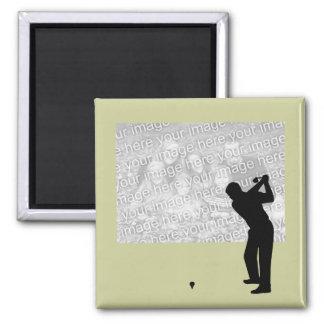 Imán de la foto del golf