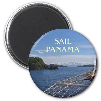 Imán de la foto del recuerdo de Panamá de la naveg