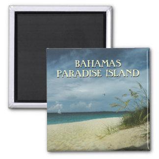 Imán de la foto del recuerdo del viaje de Bahamas Imanes