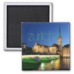 Imán de la foto del recuerdo del viaje de Zurich S