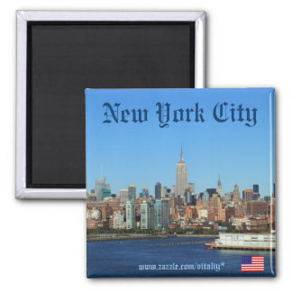 Imán de la fotografía del horizonte de New York Ci