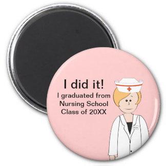 Imán de la graduación de la enfermera