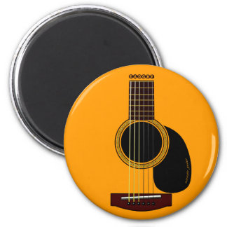 imán de la guitarra acústica