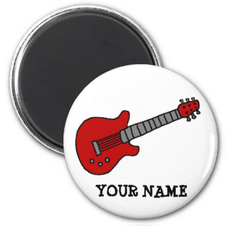 Imán de la guitarra personalizado con cualquier no