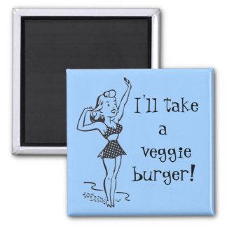 Imán de la hamburguesa del Veggie