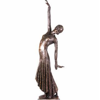 Imán de la hembra del art déco esculturas fotograficas