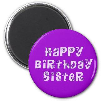 Imán de la hermana del feliz cumpleaños