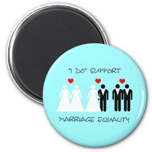 Imán de la igualdad de la boda de la ayuda