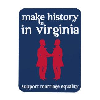 Imán de la igualdad de la boda de Virginia