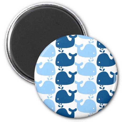 Imán de la impresión de la silueta de la ballena