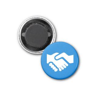 Imán de la insignia - apretón de manos