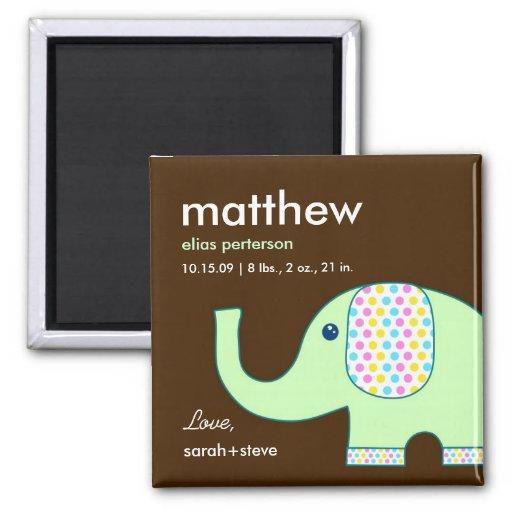 Imán de la invitación del nacimiento del elefante