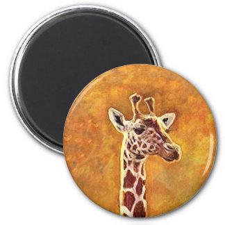 Imán de la jirafa de la fauna