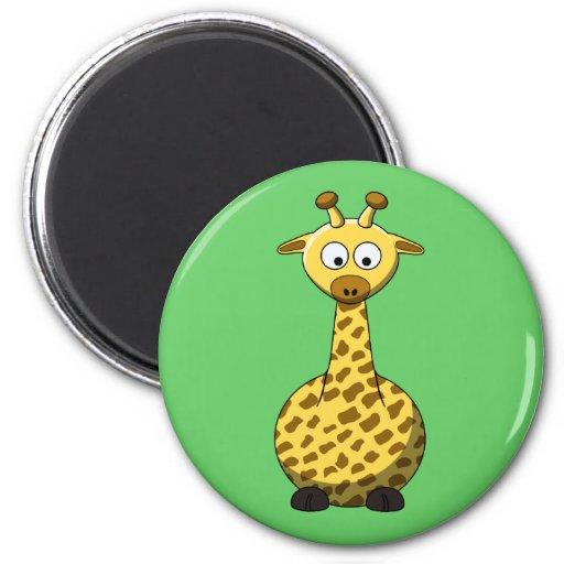 Imán de la jirafa del dibujo animado