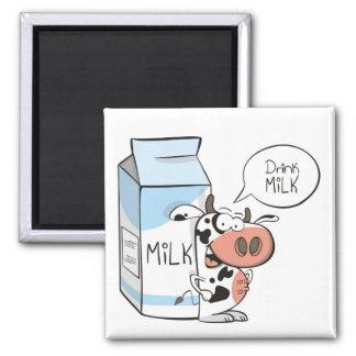 Imán de la leche de la bebida
