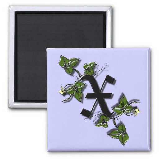 Imán de la letra X del monograma