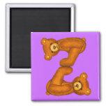 Imán de la letra Z del ~ del alfabeto del oso de p
