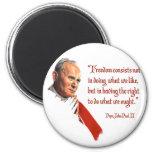 Imán de la libertad de Juan Pablo II