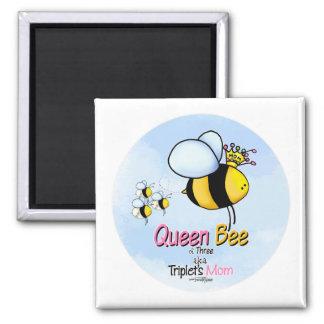 Imán de la mamá de la abeja reina del trío aka