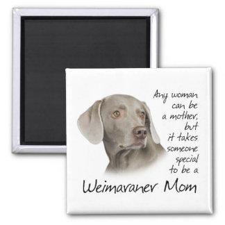 Imán de la mamá de Weimaraner