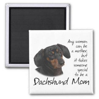 Imán de la mamá del Dachshund