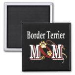imán de la mamá del terrier de frontera