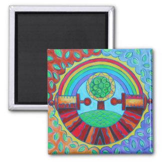 Imán de la mandala del arco iris