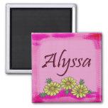 Imán de la margarita de Alyssa