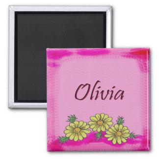Imán de la margarita de Olivia