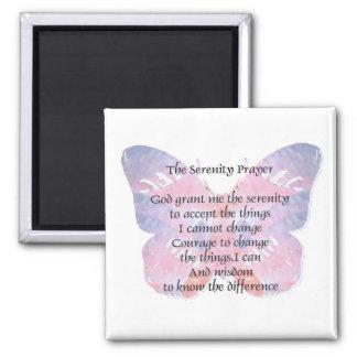Imán de la mariposa 2 del rezo de la serenidad