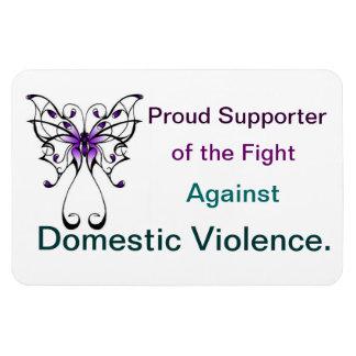 Imán de la mariposa de la violencia en el hogar