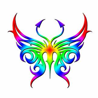 Imán de la mariposa del arco iris esculturas fotograficas
