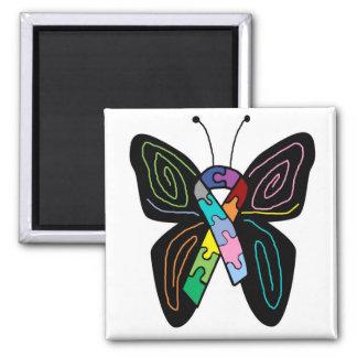 Imán de la mariposa del autismo