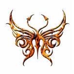 Imán de la mariposa del fuego esculturas fotograficas