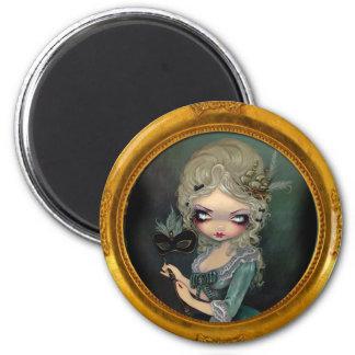 Imán de la mascarada de Marie
