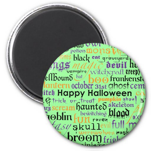 Imán de la mazarota de Halloween