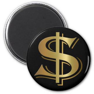 Imán de la muestra de dólar