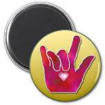 Imán de la muestra de ILY ASL te amo