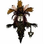 Imán de la muñeca del vudú escultura fotografica