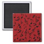 Imán de la música de las notas musicales - rojo