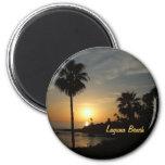 Imán de la palma de la puesta del sol del Laguna B