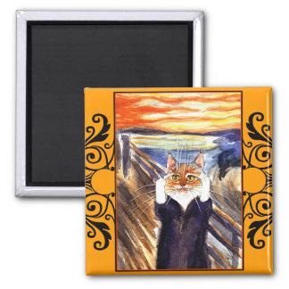Imán de la parodia del gato, el grito de Edvard Mu