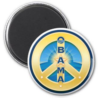 Imán de la paz de Obama Goldstar, redondo en