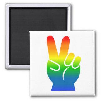 Imán de la paz del orgullo gay