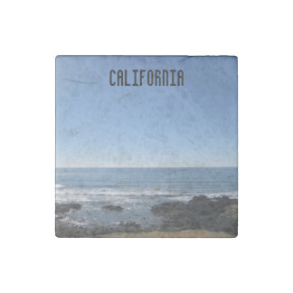Imán de la piedra de la playa de California Imán De Piedra