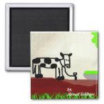 Imán de la pintura de la vaca