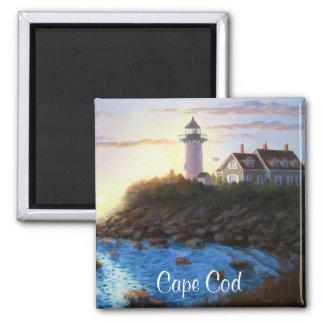 Imán de la pintura del faro de Cape Cod mA Nobska