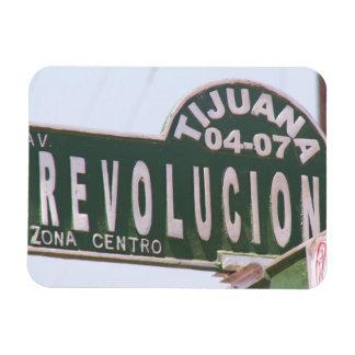 Imán de la placa de calle de la revolución de Tiju