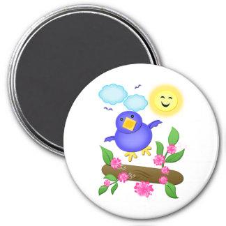 Imán de la primavera de la felicidad del Bluebird