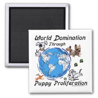 Imán de la proliferación del perrito de la dominac